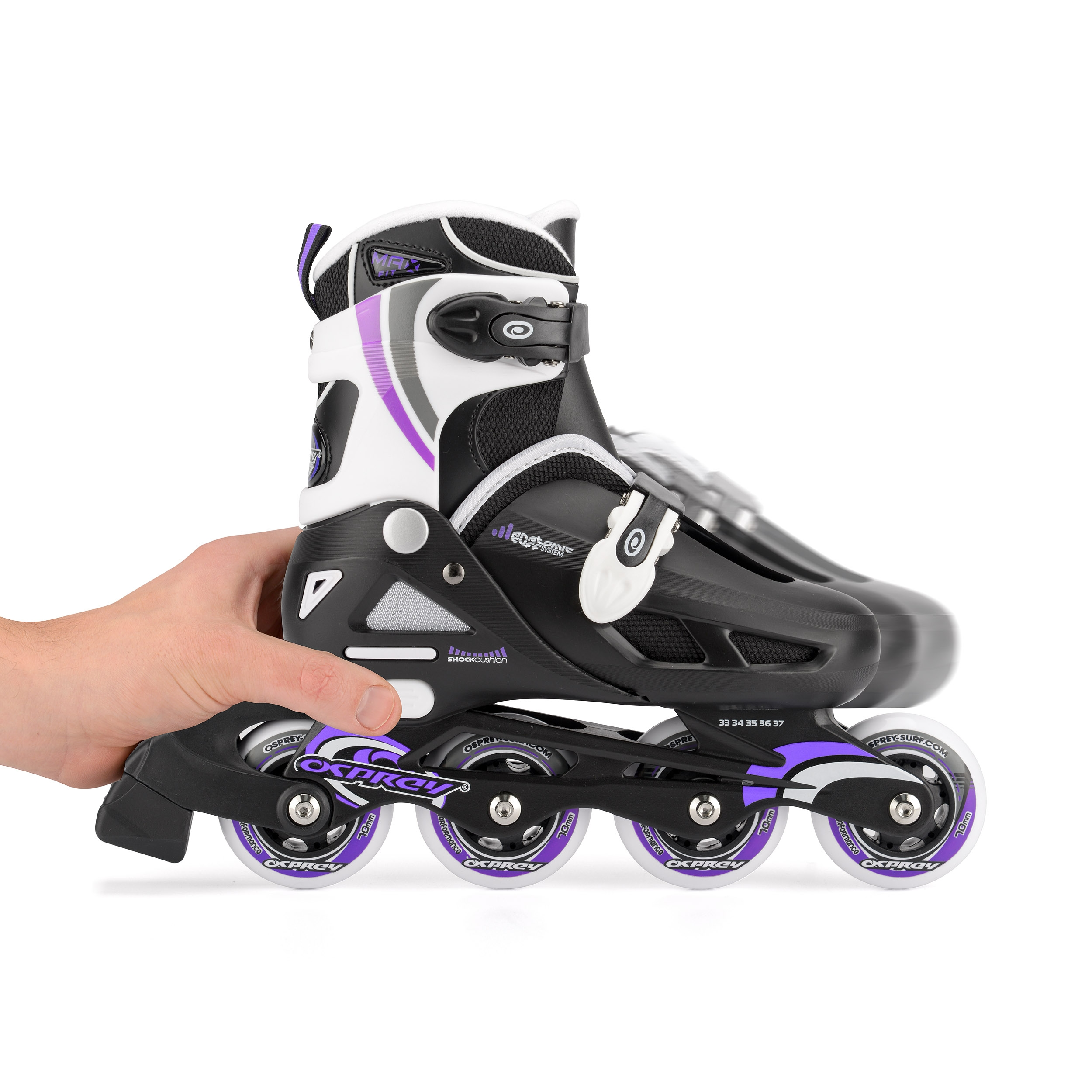 Purple Adjustable Multiple Skates Details about Inline Skates Sizes Osprey Girl's Roller PZiTOkuX